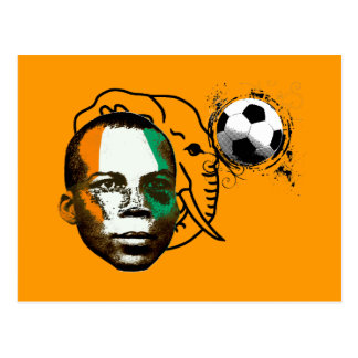 Ivory coast côte d'ivoire face soccer lovers gifts postcard
