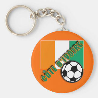 IVORY COAST COTE D'IVOIRE Soccer Fan Tshirts Basic Round Button Keychain