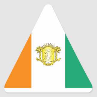 Ivory Coast - Côte d'Ivoire Triangle Sticker