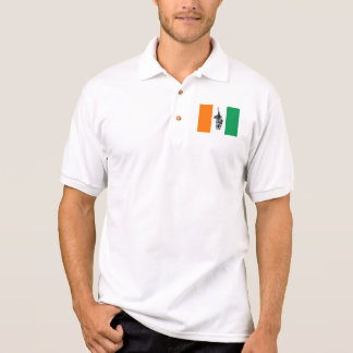 Ivory Coast Cote D'Ivore Soccer Flag Polo T-shirt
