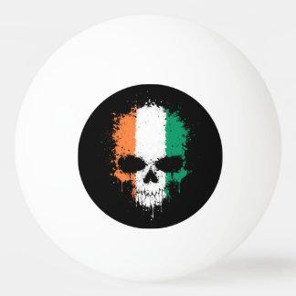 Ivory Coast Dripping Splatter Skull Ping-Pong Ball