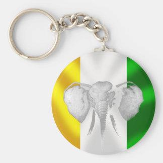 """Ivory coast elephants """"Les Éléphants gifts Basic Round Button Keychain"""