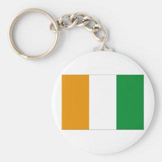 Ivory Coast Flag Basic Round Button Keychain