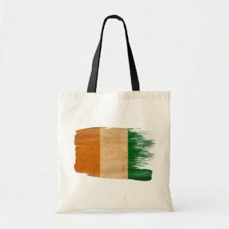 Ivory Coast Flag Canvas Bags