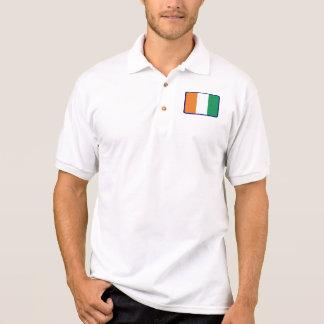 Ivory Coast flag golf polo