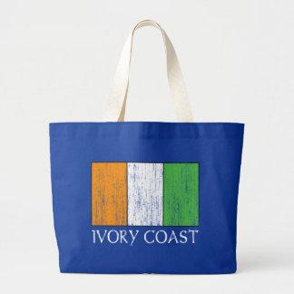 Ivory Coast Flag Large Tote Bag