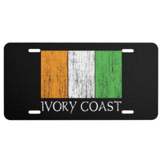 Ivory Coast Flag License Plate