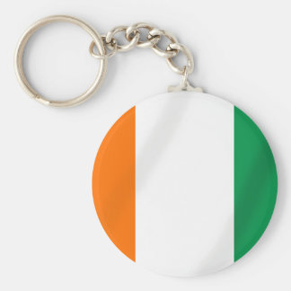 Ivory coast flag of Côte d'Ivoire gifts Basic Round Button Keychain