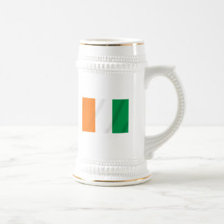 Ivory coast flag of Côte d'Ivoire gifts Beer Stein