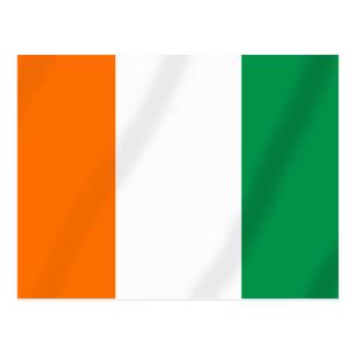Ivory coast flag of Côte d'Ivoire gifts Postcard