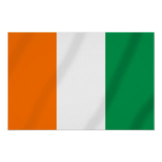 Ivory coast flag of Côte d'Ivoire gifts Poster