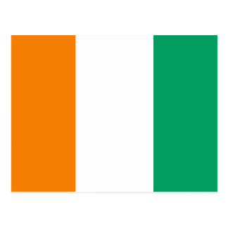 Ivory Coast Flag Postcard
