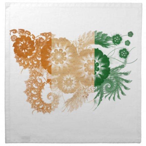 Ivory Coast Flag Printed Napkin