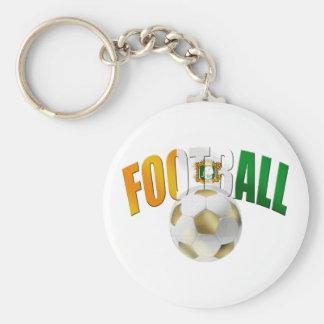 Ivory Coast Football ball gifts Basic Round Button Keychain