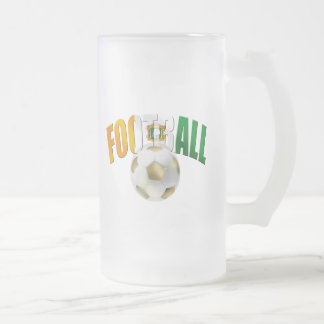 Ivory Coast Football ball gifts Frosted Glass Beer Mug