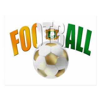 Ivory Coast Football ball gifts Postcard