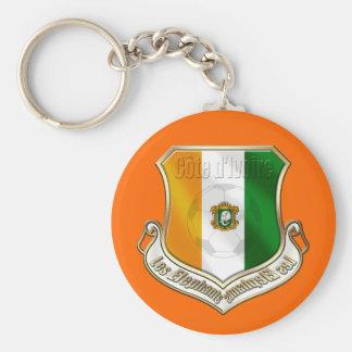 Ivory coast new fans shield emblem badge basic round button keychain