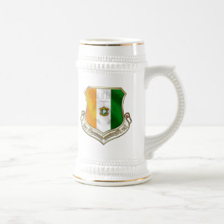 Ivory coast new fans shield emblem badge beer stein