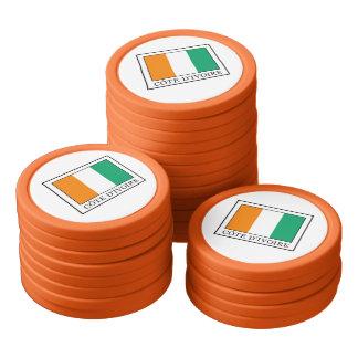 Ivory Coast Poker Chips