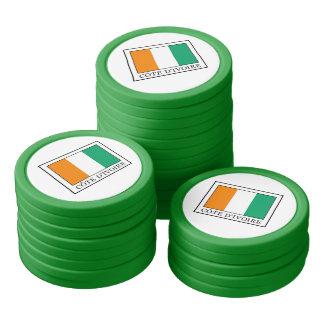 Ivory Coast Set Of Poker Chips