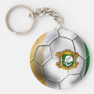 Ivory Coast soccer ball - Côte d'Ivoire football Basic Round Button Keychain