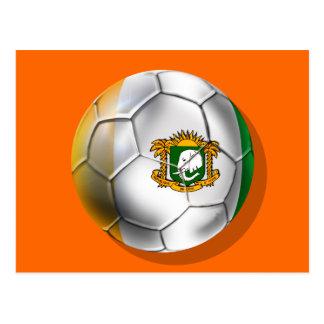 Ivory Coast soccer ball - Côte d'Ivoire football Postcard