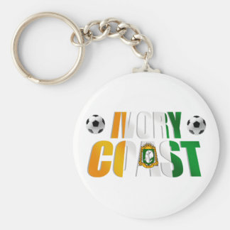 Ivory Coast Soccer ball football fans gifts Basic Round Button Keychain