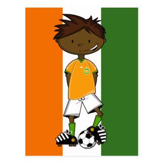 Ivory Coast Soccer Boy Postcard