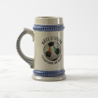 IVORY COAST SOCCER CHAMPIONS BEER STEIN