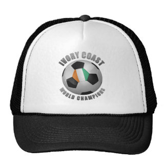 IVORY COAST SOCCER CHAMPIONS TRUCKER HAT