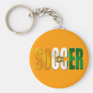 Ivory Coast Soccer logo football fans gifts Basic Round Button Keychain