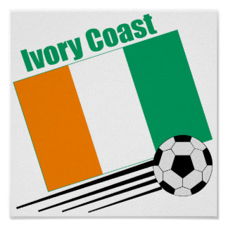 Ivory Coast Soccer Team Poster