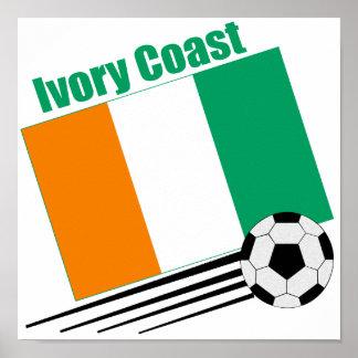 Ivory Coast Soccer Team Poster