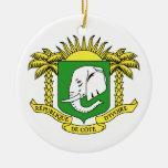 Ivory+Coast Star Christmas Ornament
