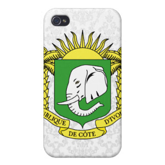Ivory+Coast Star iPhone 4 Cover