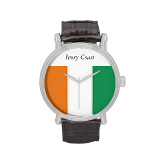 Ivory Coast Vintage Leather Strap Watch Watches