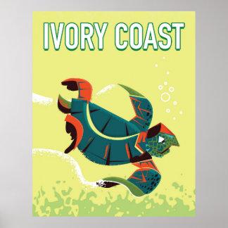 Ivory coast vintage travel poster