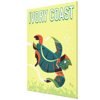 Ivory coast vintage travel poster canvas print