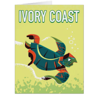 Ivory coast vintage travel poster card