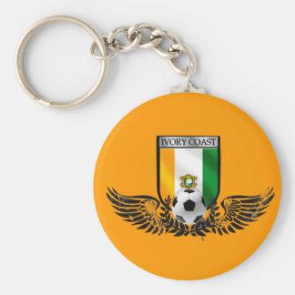 Ivory Coast Winged Les Elephants fans shield Basic Round Button Keychain