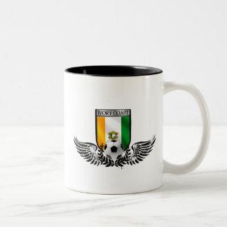 Ivory Coast Winged Les Elephants fans shield Two-Tone Coffee Mug