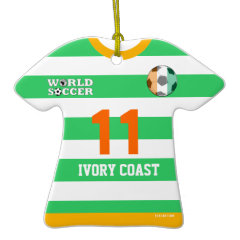 Ivory Coast World Cup Soccer Jersey Ornament ornament