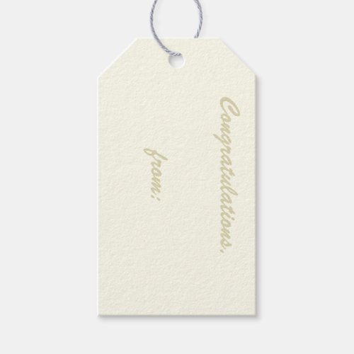 Ivory-Colored Congratulations Gift Tag
