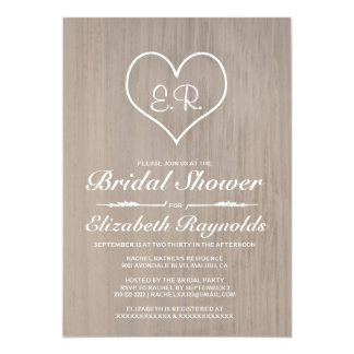 Ivory Country Bridal Shower Invitations