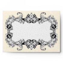 Ivory Cream and White A7 Gothic Baroque Envelopes