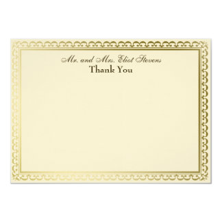 Ivory Cross Lilies Personalized Thank You Card