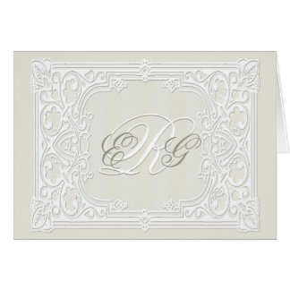 Ivory Custom Monogram Note Cards