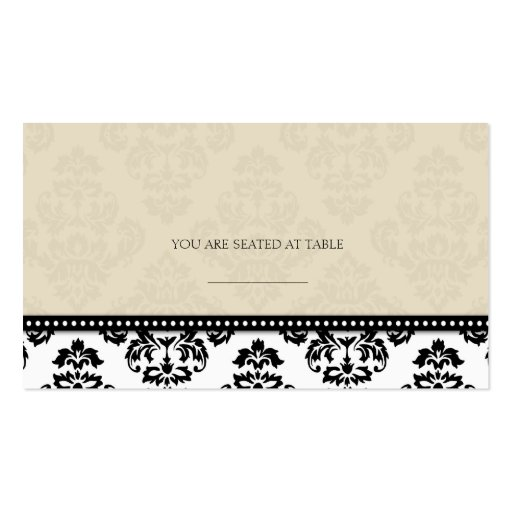 Ivory Damask Wedding Placecards Business Card Templates