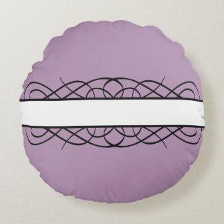 Ivory Deco Flourish Round Pillow