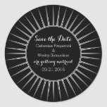 Ivory Deco Retro Save the Date Stickers
